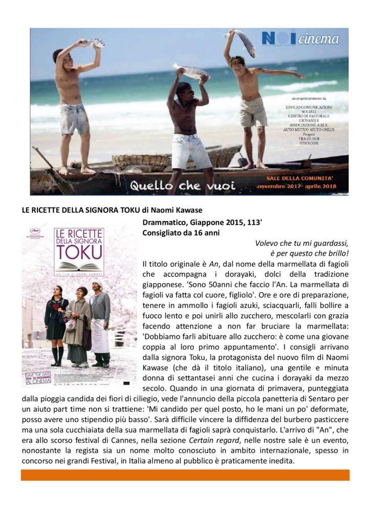 thumbnail of 2018 Film scheda – Le ricette della signora Toku